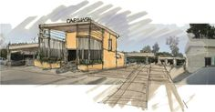 carwash rendering modern architect concept sketch http://www.modative.com/fashion-sq-car-wash-modern-car-wash-architect/#