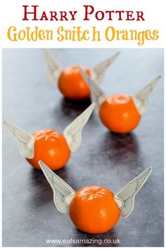 Fun Harry Potter Party Food - Golden Snitch Oranges