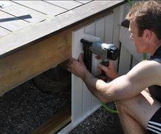 Pergola For Small Patio Mobile Home Skirting, House Skirting, Deck Skirting, Deck With Pergola, Pergola Ideas, Diy Pergola, Porch Ideas, Small Pergola, Balcony Ideas