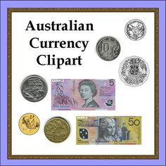 Australian Currency Clipart - A set of 17 .jpg clipart images that are perfect for using in creating numeracy worksheets, games or wall displays.