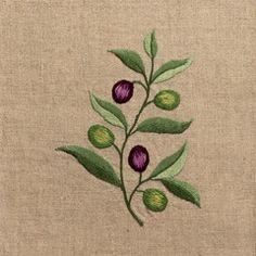 Olive Branch Napkin - Natural Linen – Henry Handwork