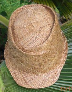 Custom and ready made handmade Lauhala Hats in Kona Hawaii Flax Weaving, Weaving Art, Basket Weaving, Hand Weaving, Flax Fiber, Woven Baskets, Weaving Techniques, Neckties, Grasses