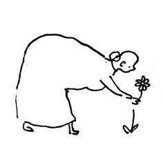 Illustratie met pen - illustration with pen - bloem -flower