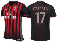 AC Milan  17 Cristian Zapata 2016-17 Home Jersey Ac Milan 1bc246740ae63