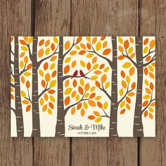 Guest Book Tree - Wedding Guest Book Alternative Birch Tree Forest Poster - Guestbook Tree for 125 Signatures Wedding Tree Guest Book, Guest Book Tree, Tree Wedding, Diy Wedding, Guest Books, Wedding Book, Wedding Ideas, Wedding Inspiration, Wedding 2017