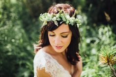 Rocky Mountain National Park DIY Elopement // Shannon & James via Rocky Mountain Bride // flower crown, greenery, hellebores // @ashleea8