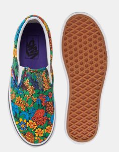 Image 3 ofVans Classic Liberty Print Floral Slip On Trainers