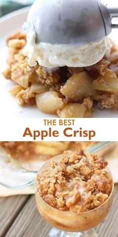 Best Apple Crisp Recipe, Apple Crisp Easy, Apple Crisp Recipes, Carmel Apple Crisp Recipe, Individual Apple Crisp Recipe, Apple Recipes Video, Apple Crisp Topping, Best Apple Recipes, Apple Pie Recipe Easy