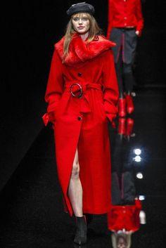 Emporio Armani/ Autumn/Winter 2017 Colour Trend: Red | British Vogue