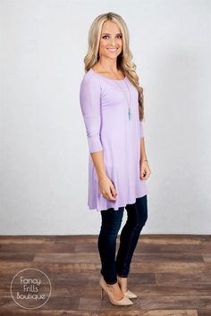 This dolman top is the perfect addition to your wardrobe! Wear it with your favorite leggings, jeans, or comfy sweat pants…It goes with EVERYTHING and is the perfect fit for all body types.It's the perfect go-to basic!The 3/4 length sleeve is perfect for winter layering, and will be the perfect start to your spring wardrobe worn on it's own!SIZES (Runs true to size and is a loose fit)  Small 0-4Medium 4-8Large 8-12Models are wearing a size small! 95% Rayon 5% Spandex.