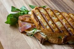 back bacon, brie and cranberry sandwich (i had this at the hollies farm in little budworth, england - my ultimate heaven)