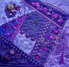 I ❤ crazy quilting & embroidery . . . CQJP 2013 Mar. ~By Judy D. Mississippi, USA