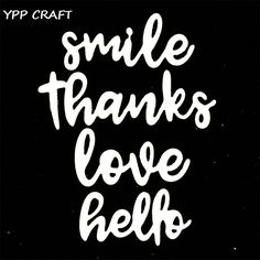 YPP CRAFT Smile Metal Cutting Dies Stencils for DIY Scrapbooking Stamp/photo album Decorative Embossing DIY Paper Cards