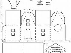 6 Best Images of Printable Templates For Putz Houses Patterns - Putz Glitter Houses Patterns for Christmas, Putz House Template and Free Printable Paper House Patterns Templates 3d Templates, Templates Printable Free, Printable Paper, Kirigami Templates, Christmas Paper, Christmas Home, Christmas Glitter, Diy Paper, Paper Crafts