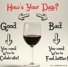 Good or bad, there's always wine.