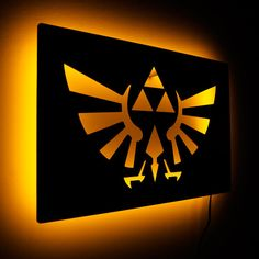 Lighted Zelda Wall Lamp and Triforce Royal Crest Wall by LuxChroma, $65.00