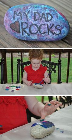 My Dad Rocks | DIY Fathers Day Gifts from Kids