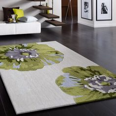 Indoor Beige with Floral Green Design Hand-tufted Transitional Area Rug – Top Trend – Decor – Life Style Kitchen Area Rugs, Living Room Area Rugs, Floors Kitchen, Kitchen Carpet, Kitchen Towels, Living Rooms, Blue Kitchen Tables, Area Rug Sets, Transitional Area Rugs