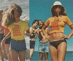 Bold vintage shirts.