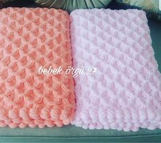 43 Knitted Baby Blanket Models with Embossed Motif Figures Baby Afghan Crochet Patterns, Baby Blanket Crochet, Crochet Baby, Knitted Baby Blankets, Baby Afghans, Harems, Diy Crafts, Fluffy Blankets, Knit Blankets