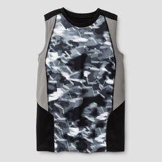 Boys' Novelty Sleeveless Tech T-Shirt - C9 Champion - Ebony Print XS, Boy's