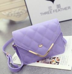 Korean Leisure Trend Envelope Bags Single Shoulder Bag Purple pas cher
