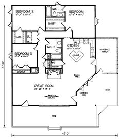 with some rearranging? House Plan chp-24191 at COOLhouseplans.com