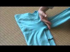 Fold long sleeved t-shirts using The KonMari Method - YouTube // I didn't even realize I needed to know how to fold long sleeved t-shirts.