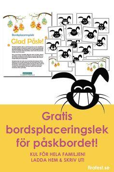 En kul lek för hela familjen! Ladda hem och skriv ut direkt. Rabattkod finns på firafest.se.  #påsklekar #bordsplaceringslekar #bordsplaceringslek #påsk #påskbord