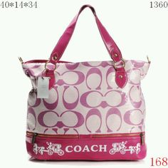 White and two toned pink coach