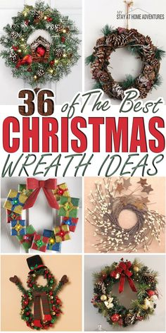 Looking for Christmas wreath ideas and inspiration? Maybe you are looking for the the best Christmas wreaths? Check out over 35 Christmas wreath ideas!