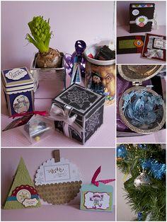 Bonjour !!!   A toutes je viens vous souhaiter un excellent Noël ainsi qu'a toutes votre famille ! Ici les cadeaux étaient décorés entièreme...