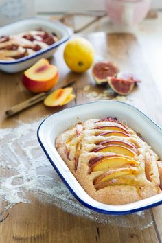 Almond nectarine cake