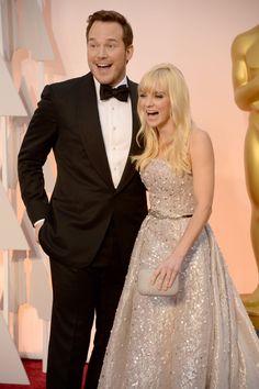 Pin for Later: Die 55 besten Bilder der Oscars 2015 Chris Pratt und Anna Faris