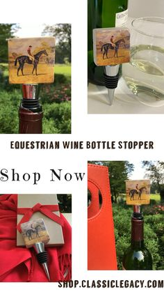 This Classic Legacy marble wine bottle stopper features an wonderful art image of the racehorse, Iroquois. It is a classic gift for a wine lover and anyone who loves horses. It comes gift boxed and makes a great gift. Wine Bottle Stoppers, Wine Bottle Crafts, Custom Wine Bottles, Iroquois, Thing 1, Racehorse, Gifts For Horse Lovers, Black Gift Boxes, Wine Lover