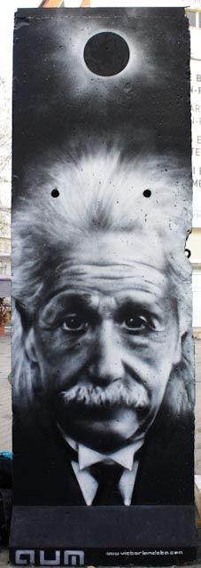 Albert Einstein on Berlin Wall