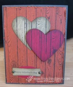 Stamp & Scrap with Frenchie: Masculine Valentine with Hardwood
