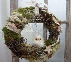 Adventskranz - NATUR ♥Wald-Weihnacht♥ Weihnachtskranz Türkranz - ein Designerstück von kranzkunst bei DaWanda