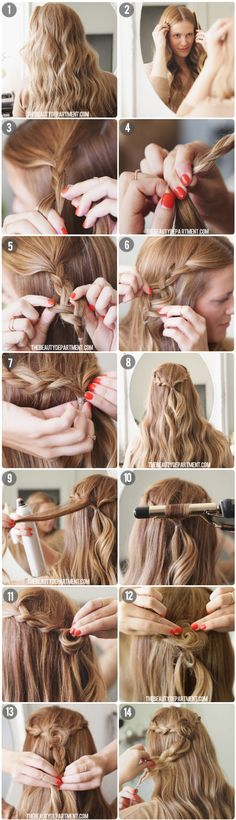 a perfect Rosette Braid for fall!