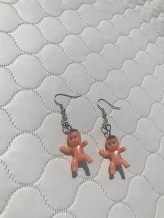 Baby Earrings, Funky Earrings, Plastic Babies, Fairy Jewelry, Fun Diy Crafts, Some Ideas, Piercing, Jewlery, Mini