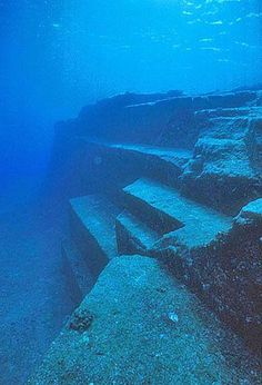 These enigmatic, sunken stone structures off Okinawa, Japan, located 60 to 100 feet beneath the ocean surface, have the Japanese wondering if their homeland was once part of the lost continent of Mu.