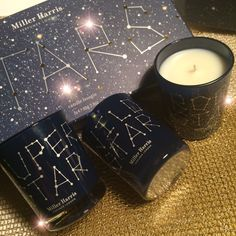 What's your scented mood tonight? Mine is Super Star! I love the new set of scented candles Stars by Miller Harris created for Christmastime. A constellation of stardom, with three different scents to. Scented Candles, Candle Jars, Wild Star, Home Scents, Super Star, Woody, Constellations, Fig, Birch