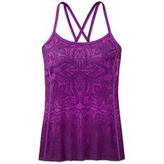 Printed Harmonious Cami - The lightweight, sleek, wicking support top that adds to your artful practice with a stunning print.  i want to try this - the straps in back look cool.