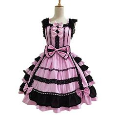 Nuoqi Ladies Sweet Princess Skirt Court Lolita Dress Lace Cosplay... ($92) ❤ liked on Polyvore featuring costumes, dresses, cosplay, lolita, womens halloween costumes, animal halloween costumes, princess costume, purple princess costume and purple minion halloween costume