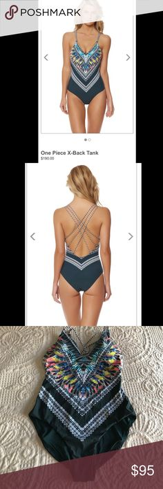🎉FLASH SALE🎉Red Carter Feather Warrior One Piece NWT🎉🎉 One piece tank with removable cups and strappy X back.  73% Nylon, 27% Spandex Size: M(US 8). Did not come with hygienic strip, never worn. Red Carter Swim One Pieces