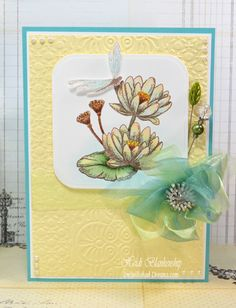 Embellished Dreams: Frog & Water Lily Clear Stamp Set-JustRite Papercraft September New Release Day 6