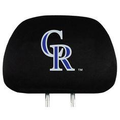 Colorado Rockies Headrest Covers #ColoradoRockies