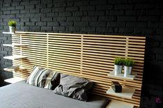 Czarna cegła dekoracyjna – sypialnia loft   imindesign