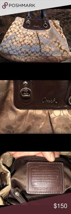 Coach purse Coach satchel. 100% authentic. The straps have a little wear but purse is in good condition. coach  Bags Satchels