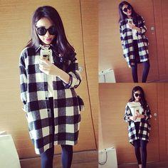 I like this. Buy here: http://www.dresslink.com/new-fashion-womens-leisure-blackwhite-plaid-loose-long-blouse-tops-check-shirt-p-19122.html?utm_source=pin&utm_medium=cpc&utm_campaign=Sabrina-HairsM